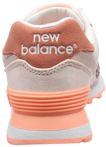 New Balance Wl574swb, Sneakers basses femme Rose (Salmon)