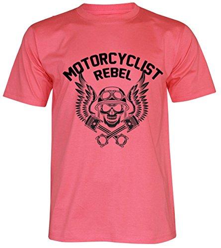 PALLAS Unisex's Motorcycle Club Rebel Vintage T Shirt Pink