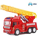 FunBlast Pull Back Vehicles Fire Rescue Truck, Friction Power Toy Trucks for 3+ Years Old Boys and Girls, Light & Sound…