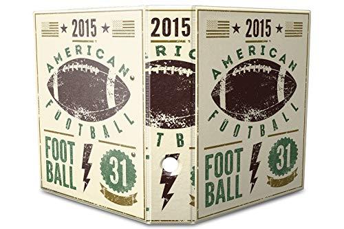 LEotiE SINCE 2004 Motiv Akten Ordner Bedruckt 60mm DIN A4 American Football