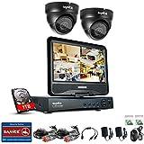 [1280*720P HD] SANNCE® Kit de 2 Cámaras de Vigilancia Seguridad (Onvif H.264 CCTV DVR P2P 4CH AHD 720P y 4 Cámaras 720P 1MP IP66 Impermeable, IR-Cut, Visión Nocturna Hasta 20M, Exterior y Interior, HDMI, 24 LEDs Seguridad Kit) - NO Disco Duro (4+2(1TB))