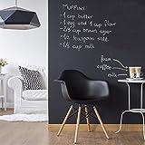 Tafelfolie selbstklebend - Wohnzimmer - DIY Tafeltapete schwarz, Klebefolie, Kreidetafel, Schiefertafel, Wandtafel, Dekofolie