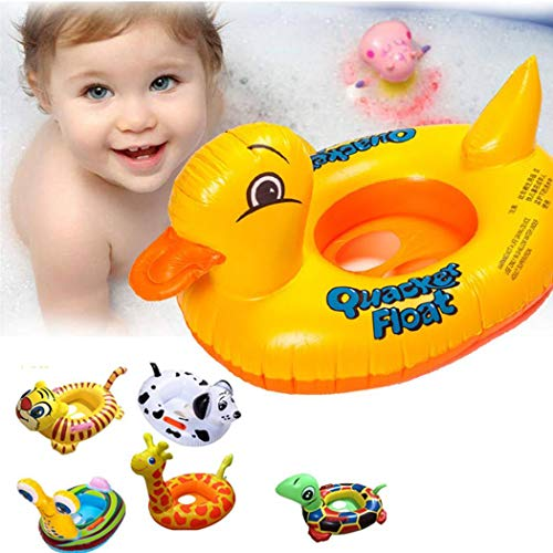 Yukio KinderToys-Baby Schwimmring Schwimmhilfe in Tier-Design, Schwimmreifen Aufblasbar für Kleinkinder ab 12 Monaten