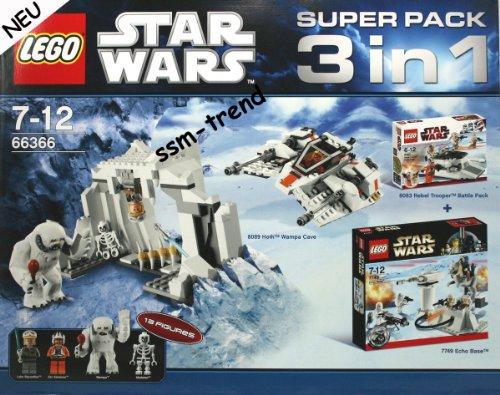 LEGO Star Wars 66366 Superpack 8089 Hoth Wampa Cave und 8083 Rebel Trooper und 7749 Echo Base