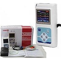 ECG/EKG Analizador Holter 3 canales Sistema de monitor de 24 horas +LCD Recorder Equip laboratorio