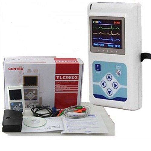 24HR LCD EKG/ECG EKGs Holter System 3 Kanal Langzeit Rekorde Analyser Monitor DE