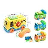 JIUZHOU Best Online Toy Shop 2017 Baby Toys Music Cartoon Bus Phone Educational Developmental Kids Toy Gift