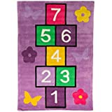 Alfombra infantil–niños alfombra–de los niños Kiddy Play Rayuela Multi alfombra 110cm x 160cm