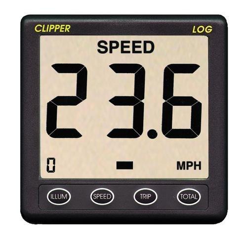 Clipper Speed Log Instrument W/Wandler und Abdeckung -