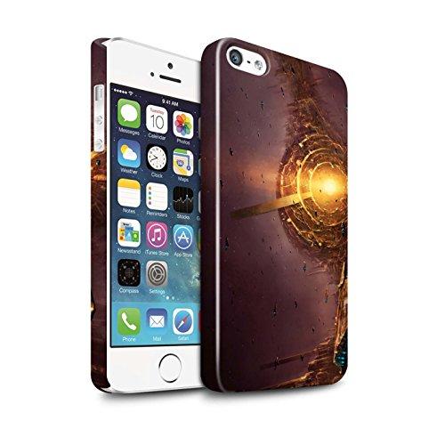 Offiziell Chris Cold Hülle / Glanz Snap-On Case für Apple iPhone SE / Pulsar/Neutron Stern Muster / Galaktische Welt Kollektion Raumfahrzeug