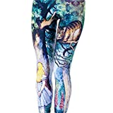 Jiayiqi Frauen Mädchen Leggings – verschiedene Cartoon Muster - 3