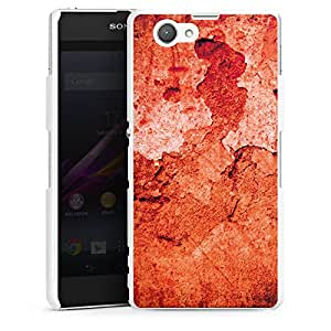 DeinDesign Sony Xperia Z1 Compact Hard Case Hülle White - Verwitterte Wand rot