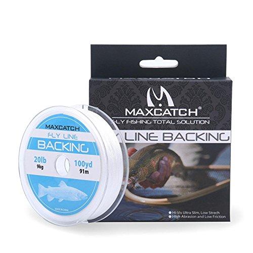 maxcatch Fly Line Backing für Fly Angeln geflochten verschiedene Farbe 20/13,6kg 100YARDS, weiß (Fly Reel Mit Linie)