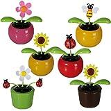 Bada Bing 4er Set Sparset Solar Wackel Figur Wiese Blumen Biene Marienkäfer