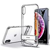 ESR Coque pour iPhone XS/X Transparente, Coque Silicone Matte avec Support Béquille...