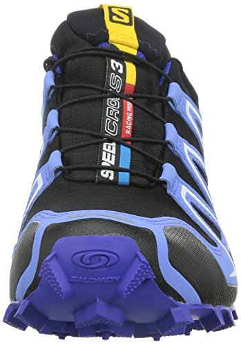 Salomon Speedcross 3, Scarpe da Corsa Donna Multicolore (Black/Petunia Blue/Spectrum Blue)