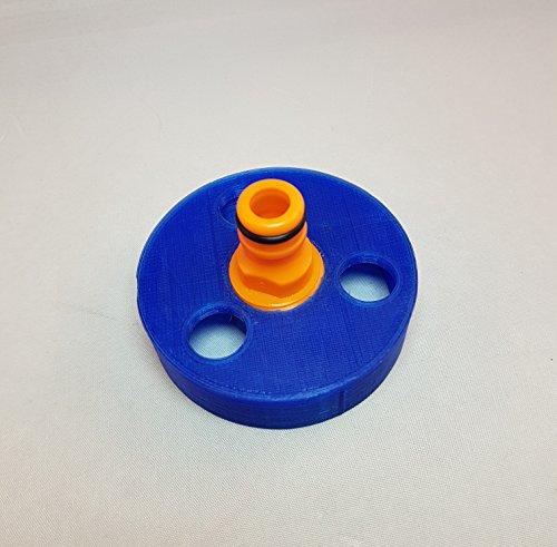 Wohnmobil Wasser Tankdeckel mit Schlauch-Anschluss für schnelle Reinigung Füllen des Wassertank: Blau Adapter (Wohnmobil Wasser Füllen)