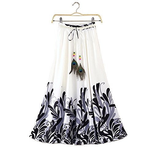 skirts for women kiteshop Crepe digital printed skirts (Black)