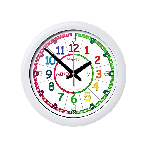 Reloj infantil EasyRead Time Teacher, con un sencillo sistema de enseñanza en 3 pasos; diámetro 29 cm; para aprender a decir la hora; destinado a niños entre 5 y 12 años