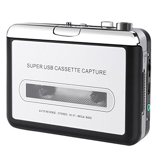 Kassette zu MP3 Konvertierer, Easy-Link Kassette Player Tape Recorder Kassetten Digital Konverter - Convert Walkman Tape to MP3 / CD / iPod / PC (Fm-radio-tape-player Am)