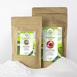 SweetCare Zucker 1.000 g Kristall- und 250 g Puder im Vorteilspack Zuckerersatz mit Erythritol und Stevia, die natürliche Alternative zu Zucker ohne Kalorien
