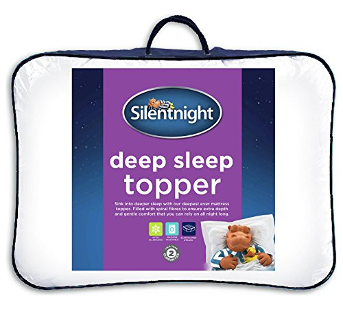 Silentnight Deep Sleep Mattress Topper, White, Single 2