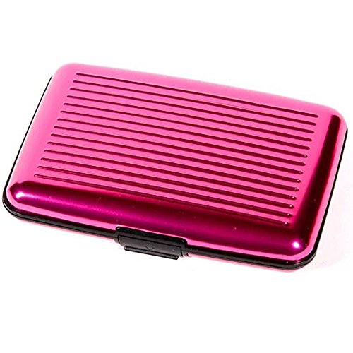 RFID Blocking Aluminium Slim Kreditkarteninhaber Fall / Brieftasche. (Rosa) -