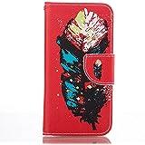 Rabat Style Portefeuille Samsung Galaxy A5 (2016) / A510 Coque Protection Anti Choc, Carte Titulaire PU Cuir Poids léger Case Cover, Plumage Motif