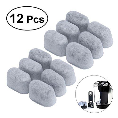 BESTOMZ 12 stück Wiederverwendbar Holzkohle Wasserfilter, Kaffeemaschine