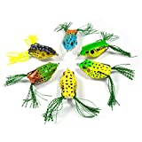 Supertrip Top-Wasser Springen Frosch-Köder Weiche Gummifrosch Hohlkörper Frosch Kunstköder