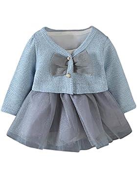 Kobay 2 Stücke Infant Kleinkind Baby Mädchen Tutu Prinzessin Kleid + Mantel Outfits Kleidung Set