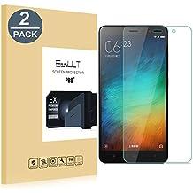[2 Pack]Protector de Pantalla Xiaomi Redmi Note 3/PRO,Protector de Pantalla de Cristal Templado para Xiaomi Redmi Note 3(Pro)(Transparente,Dureza de Grado 9H, Espesor 0,26 mm, 2.5D Round Edge)