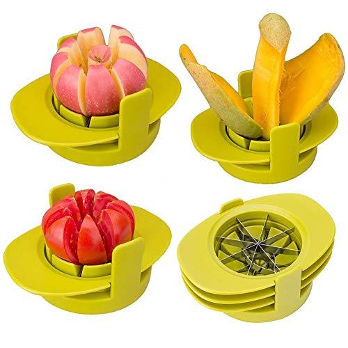 hestier Apfelentkerner Schneide Cutter/tomate Mango Schneide/3in 1Abfalleimer aus Edelstahl Multifunktions Küche Gadget BPA-frei