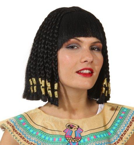 Perücke: »Nofretete«, schwarze Haare, - Königin Nofretete Für Erwachsenen Kostüm