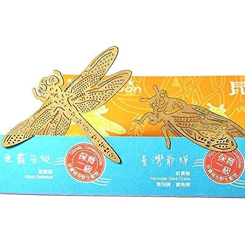 Dosee Design mark taiwan taglio della carta segnalibro Insetti Volanti serie - Libellula / Formosa Gigante Cicala / Vecchio Mondo Farfalla di Coda Forcuta Impacchettare