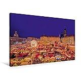 Premium Textil-Leinwand 90 x 60 cm Quer-Format Striezelmarkt   Wandbild, HD-Bild auf Keilrahmen, Fertigbild auf hochwert