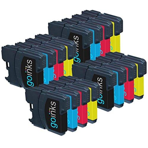 4 Go Inks Satz von 4 Tintenpatronen zum Austausch von Brother LC980 & LC1100 Kompatibel / Nicht-OEM zur verwendung mit Brother DCP und MFC Drucker (16 - Tintenpatronen Brother Lc61