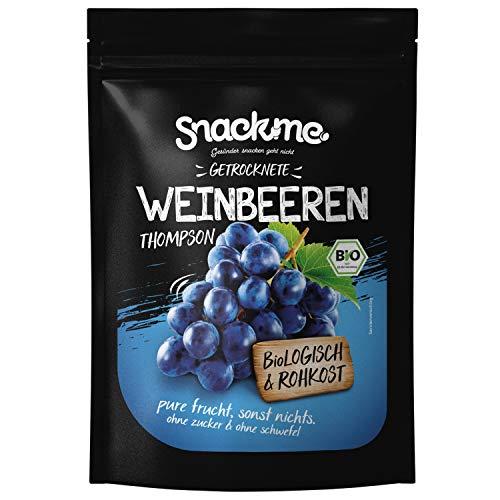 Bio getrocknete Weinbeeren Rosinen Sultaninen Thompson Früchte 1kg Spanien Rohkost-Qualität ohne Zucker ungeschwefelt getrocknet naturbelassen