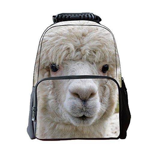 Ohmais 3D Tier Rücksack Rucksäcke Backpack Daypack Schulranzen Schulrucksack Wanderrucksack Schultasche Rucksack für Schülerin Ziege