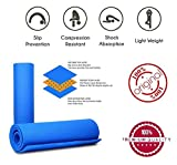 #4: Easypro Fitness Non Slip Yoga Mat 6 mm For Men & Women (Blue Color) Pattern#866