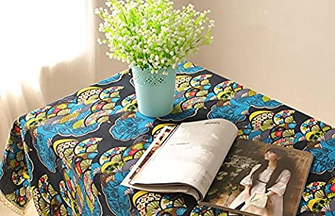 Rectangulaire en coton en dentelle en caoutchouc serviette Table à café Style japonais Décoration intérieure Accessoires , 140*200cm