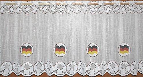 Fußball EM Euro 2016 Fanartikel Gardine Deutschland Flagge Scheibengardine - HxB 30x160 cm …auspacken, aufhänge, fertig! - Panneaux Vorhang Fussball Typ69