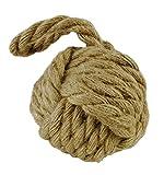 Decorazione, arredamento - fermaporta a forma di pallina, gomitolo in corda - oggetto casalingo