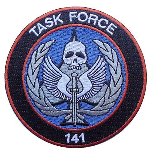 Preisvergleich Produktbild Titan One Europe Task Force 141 Modern Warfare Call of Duty Logo Patch Dekorativ Aufnäher Aufbügler