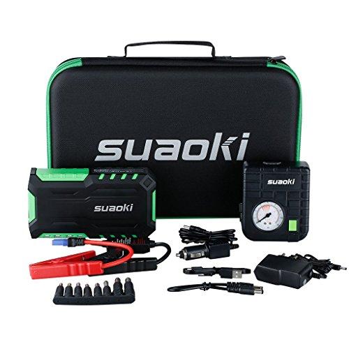 Suaoki G7 Plus - Jump Starter de 18000mAh 600A + Compresor de aire