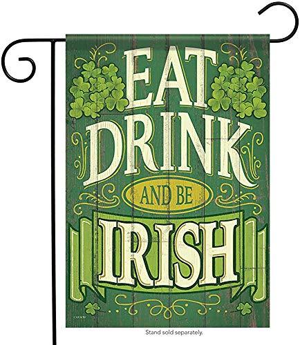 jiaxingdalin Be Irish St. Pat's Garden Flag Clover Irish Patrick Shamrock