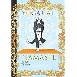 Yoga Cat Calendar 2020: Cute Stretching Cat Yoga Women Cute Daily Planner Journal Agenda Organizer with Positive Affirmations Gratitude Book To Write In Gift Idea