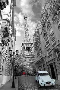 Paris en noir et blanc Poster Grand Format 61 x 91.5 cm Plastifié