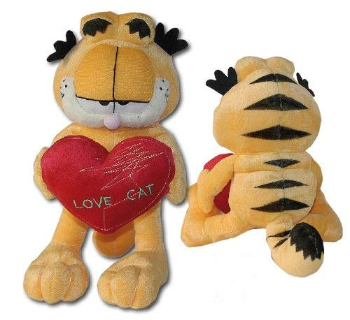 "Plush Soft Toy GARFIELD The Cat with HEART 9"" (22cm) ORIGINAL"