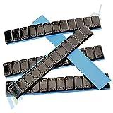 7 Pesi equilibratura NERO 12x5g Pesi adesivi Pesi in acciaio Striscia adesiva 60g con BORDO DI USCITA zincato & rivestito plastica 0. 42KG Nero 5gx12